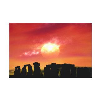 Sunset on the Henge Canvas Print