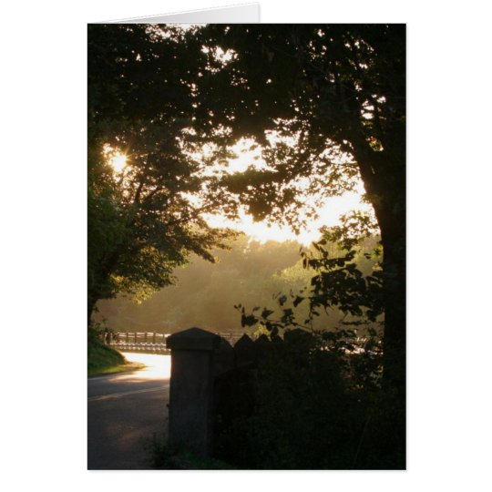 Sunset on the Historic Highway Card