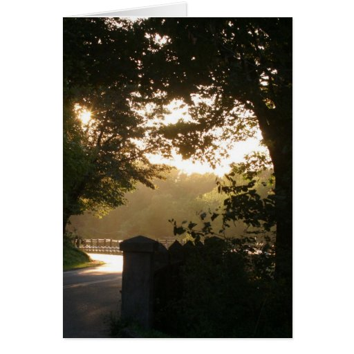 Sunset on the Historic Highway Greeting Cards