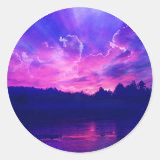 Sunset on the Horizon Classic Round Sticker