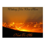 Sunset On The Horizon / Wishing You Were Here Post Card