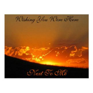 Sunset On The Horizon / Wishing You Were Here Postcard