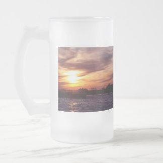 Sunset on the Hudson Mugs