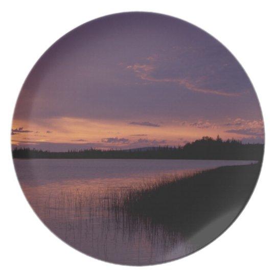 Sunset on the Innoko Wildlife Refuge Alaska Dinner Plate