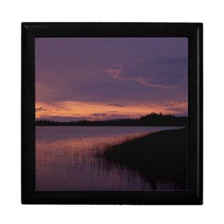 Sunset on the Innoko Wildlife Refuge Alaska Trinket Boxes