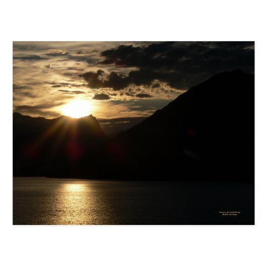 Sunset on the Inside Passage Postcard