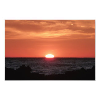Sunset on the Laguna Beach Photographic Print