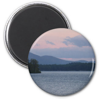 Sunset on the Lake 2 2 Inch Round Magnet