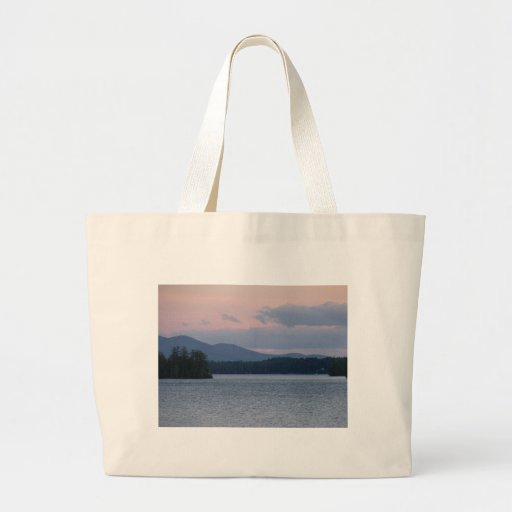 Sunset on the Lake 2 Canvas Bags