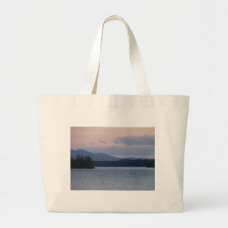 Sunset on the Lake 2 Large Tote Bag