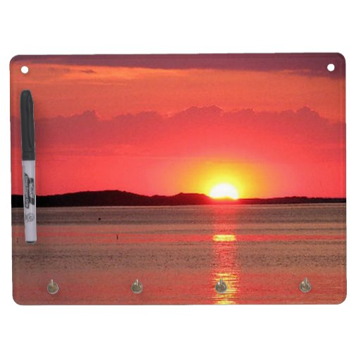 Sunset on the lake Dry Erase Board