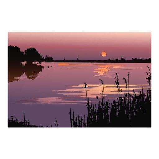 Sunset On The Lake Photo Print