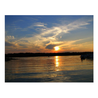 Sunset on the Lake Post Card
