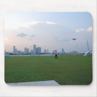 Sunset on the Marina Barrage Mouse Pad
