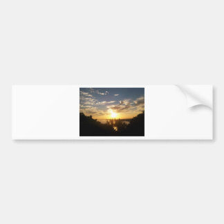 Sunset on the Mississipp Bumper Sticker
