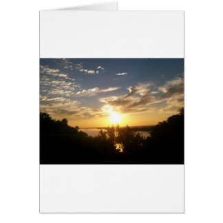 Sunset on the Mississipp Card