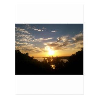 Sunset on the Mississipp Postcard