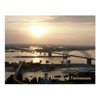 Sunset on the Mississippi River Postcard