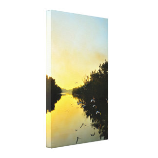 Sunset on The Negril River Canvas Print
