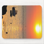Sunset on the ocean at Portivy in Brittany Mousepads