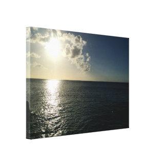 sunset on the ocean canvas