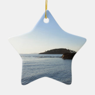 Sunset on the Ocean Ceramic Ornament