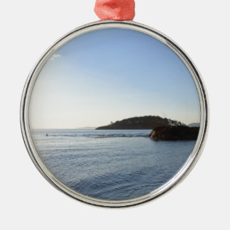 Sunset on the Ocean Metal Ornament