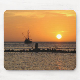 Sunset On The Ocean Mouse Pad