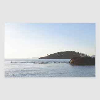 Sunset on the Ocean Rectangular Sticker