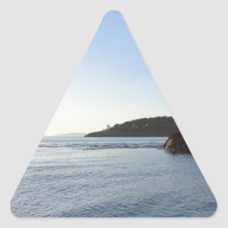 Sunset on the Ocean Triangle Sticker