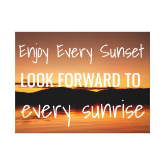 Sunset on the Ocean Wall Art with Quote