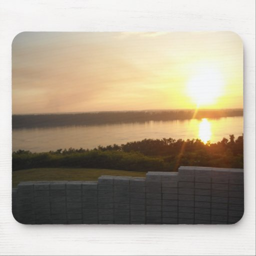 Sunset on the Ohio River Mouse Pad