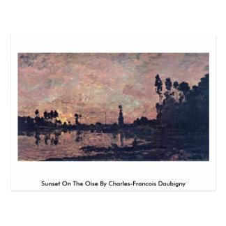 Sunset On The Oise By Charles-Francois Daubigny Postcard