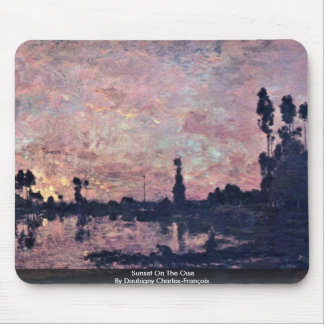 Sunset On The Oise By Daubigny Charles-François Mouse Pad