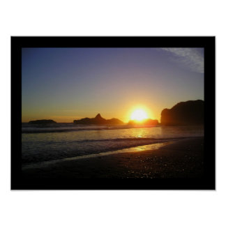 Sunset on the Olympic Coast Poster