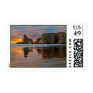 Sunset on the Oregon Coast - Bandon Stamps