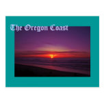Sunset on the Oregon Coast Postcard