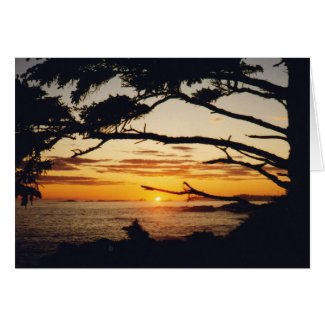 Sunset on the Pacific card