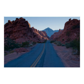 Sunset on the Parkway Valley of Fire Poster