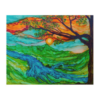 Sunset on the Pedernales Wood Wall Art