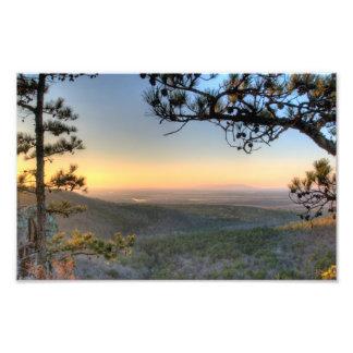 Sunset on the Petit Jean river valley, Arkansas Photographic Print