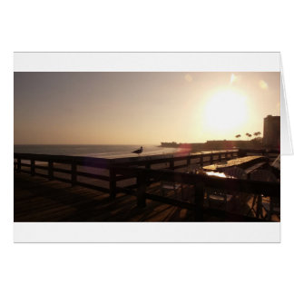 Sunset on the pier card