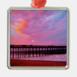 Sunset on the Pier Metal Ornament
