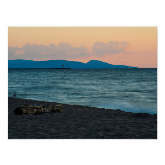 Sunset on the Porcupine Mountains, Michigan Poster