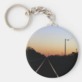 """Sunset on the Rails"" keychain"