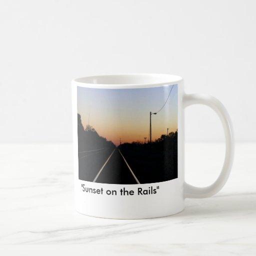 """Sunset on the Rails"" Mug"