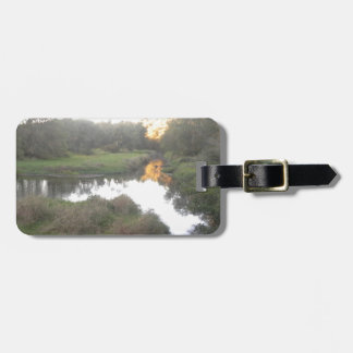 Sunset on the River Bag Tag