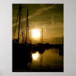 Sunset on the river, Heybridge | Poster Print