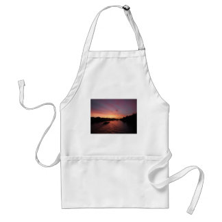 Sunset on the River Seine Adult Apron