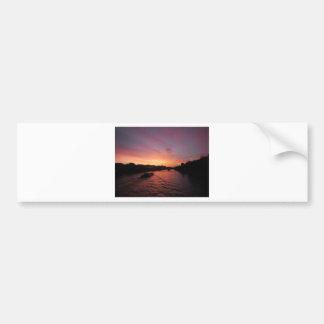 Sunset on the River Seine Bumper Sticker